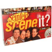 Seinfeld Scene It? The DVD Game with 1 DVD, 1 Game Board, 4 Movers, 144 Trivia Cards, 10 Buzz Cards, 4 Reference Cards, 1 Six-Sided Numbered Dice, 1 Eight-Sided Category Dice and Instruction Sheet by Scene It