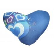 Almofada Corações Azul