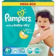 Scutece Pampers Active Baby 4 Maxi Plus Mega Box 120 buc