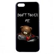 não me toque padrão pc caso de telefone material de urso para iphone 5c
