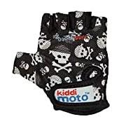 Kiddimoto Skullz Medium Gloves (Black/White)
