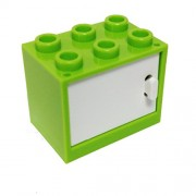 Lego Parts: Container, Cupboard 2 X 3 X 2 With Door (Lime)