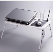 Masuta laptop E-table cooler - doua ventilatoare SUPORT pentru PAHAR si MOUSE