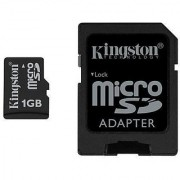 Kingston 1GB MicroSD Memory Card (SDC/1GBKR Retail Package)