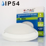 Candeeiro LED de Teto 16W Luz Natural c/ Radar 5,8GHz 1200Lm