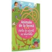 Animale De La Ferma - Carte De Colorat Cu Activitati 3 Ani+