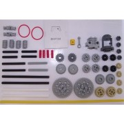 Lego Technic 56 Piece Set With Gear Wheels, Axles And Motor Parts