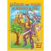 Praslea cel voinic si merele de aur - Carte de citit si colorat