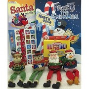 Christmas 2 Coloring Activity Books 4 Dangle Leg Fun Characters 50 Stickers Crayons Bundle of 8 Items