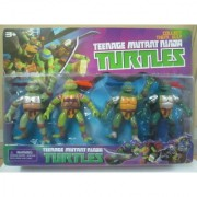 Action Figures Set of 4 Teenage Mutant Ninja Turtles