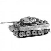 Creativo laser 3D Modelos lindos Tiger I tanque Nano Puzzle - plata