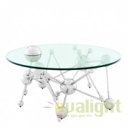 Masa de cafea design modern din otel inoxidabil Galileo diam.100cm 110176 HZ