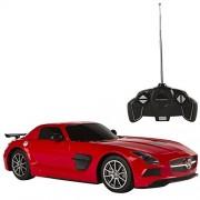 Rastar - Mercedes-Benz SLS AMG Black Series, coche teledirigido, escala 1:18, rojo (ColorBaby 85035)
