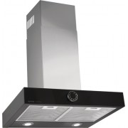 Hota Gorenje DTA6SY2B, Decorativa, 60 cm, Capacitate Maxima 618 m³/h, 1 motor, 3 Viteze, Control Mecanic, Filtru Metalic, Negru