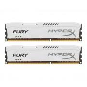 HyperX FURY - DDR3 - 16 Go : 2 x 8 Go - DIMM 240 broches - 1866 MHz / PC3-14900 - CL10 - 1.5 V - mémoire sans tampon - non ECC - blanc
