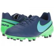 Nike Jr Tiempo Legend VI FG Soccer (ToddlerLittle KidBig Kid) Coastal BlueRage GreenPolarized Blue