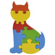 Skillofun Wooden Take Apart Baby Puzzle Large -Cat, Multi Color