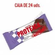 Caja 24 barritas Proteicas Nutrisport sabor chocolate 46 gr.