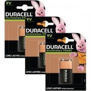 Duracell uppladdningsbart 9V 3-pack (BUN0054A)
