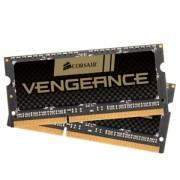 Memorie Corsair Vengeance SODIMM 8GB (2x4GB) DDR3 1600MHz CL9 1.35V, Dual Channel Kit, CMSX8GX3M2B1600C9