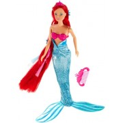 Steffi Fairytale mermaid dress-up doll with long hair and extra wisps