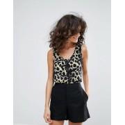 Vero Moda Leopard Print Vest - Brown (Sizes: S, L, XS, M)