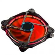 EasyDiy 120 millimetri LED silenziosa ventola per PC, dispositivi di raffreddamento di caso, e Radiatori Ultra silenzioso elevato flusso d'aria Computer Case Fan, 2 Pack-RED