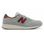 New Balance Men's 420 Re-Engineered Suede Grey with Red