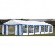 vidaXL Покрив и странични панели за градинска шатра 12 х 6 м, синьо бяло