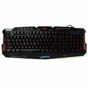 M200 USB 2.0 con cable de 114-Key retroiluminado Gaming Keyboard - Negro (Rusia)