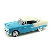 "Motormax GOTZMM73229LB 1:24 Scale Bright Blue ""1955 Chevrolet Bel Air"" Die Cast Model Car"