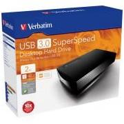 Verbatim 3,5\-os HDD 2TB Fekete, USB 3.0 csatlakozás