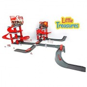 Little Treasures Toy Fire Station Emergency Toy Great Play Set for Fireman