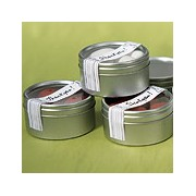 Round Tins with Clear Top Lids