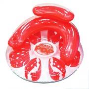 Poolmaster 06482 Water Pop Circular Lounge - Red