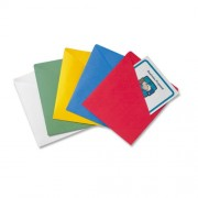 Slash-View Pocket Organizers, Letter, Assorted Colors, 25/Pack