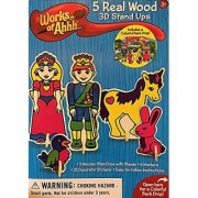 MasterPieces Works of Ahhh 3D Wood Stand Up Figure Kit #21227 Prince & Princess Castle