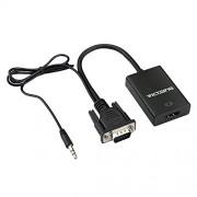 VicTsing VGA To HDMI Output 1080P HD Audio TV AV HDTV Video Cable Converter Adapter