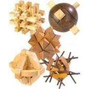 PLAYTASTIC Lot de 5 Casse-têtes en bois