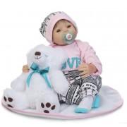 Silicone Reborn Baby Dolls Bebe Reborn 22 Pouce Doux Réel Réaliste Nouveau-Né Princesse Fille Bébés Enfants Anniversaire Cadeau De Noël