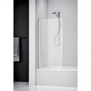 Badklapwand Sealskin Get Wet 205 1 Delig 75x150cm Mat Zilver Helder Glas met Gesatineerde Band
