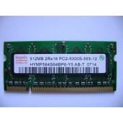 Hynix - Mémoire - 512 Mo - SO DIMM 200 broches - DDR2 SDRAM - PC5300 - 667 MHz - Ref. HYMP564S64BP6-Y5