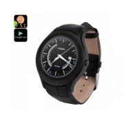 NO.1 D5 + Android montre Smart Watch - 1,3 pouces, fréquence cardiaque, podomètre, Bluetooth, compatible avec Android (Noir)