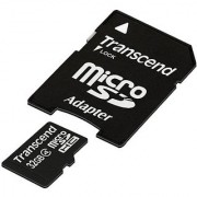 Transcend 32 Gb Class 4 Microsdhc Flash Memory Card Ts32Gusdhc4