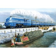 """Gibsons - Set di puzzle, soggetto: """"The Glory of Steam"""", 4 x 500 pz."""