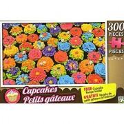 Spring Flower Cupcakes - 300 Pieces Jigsaw Puzzle + Free Cupcake Recipe Inside