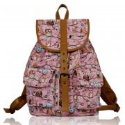 Batoh LS00269D - Pink Owl Print Rucksack Bag