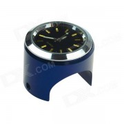 Universal Cycling Bicycle Mounted Mini Aluminium Alloy Clock Watch - Black + Blue + Silver