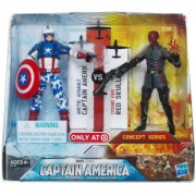 Captain America Movie Exclusive 4 Inch Action Figure 2Pack Captain America Arctic Assault Red Skull Cosmic Fire by Hasbro (English Manual)