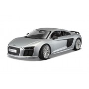 NEW 1: 18 W/B MAISTO PREMIERE EDITION - SILVER AUDI R8 V10 PLUS Diecast Model Car By Maisto